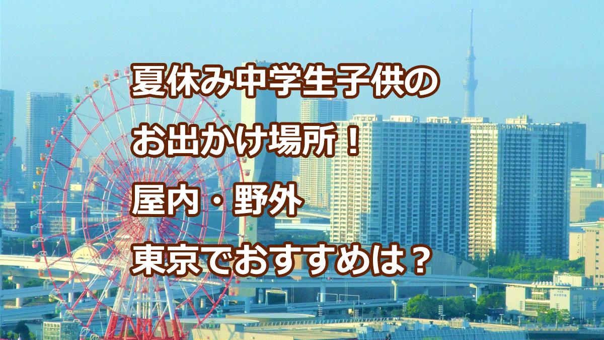夏休み中学生子供のお出かけ場所!屋内野外東京でおすすめは?
