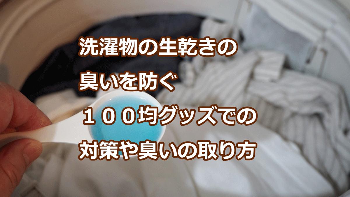 洗濯物の生乾きの臭いを防ぐ100均グッズでの対策や臭いの取り方