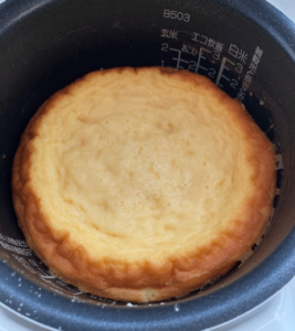 ヨーグルトチーズケーキ出来た